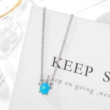 Load image into Gallery viewer, Save Sea Turtle Jewelry | Blue Sea Turtle Necklace-seaxox.com