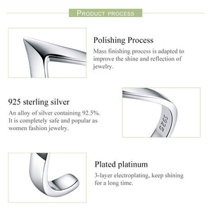 "Sterling "" Wave Ring "" Adjustable"