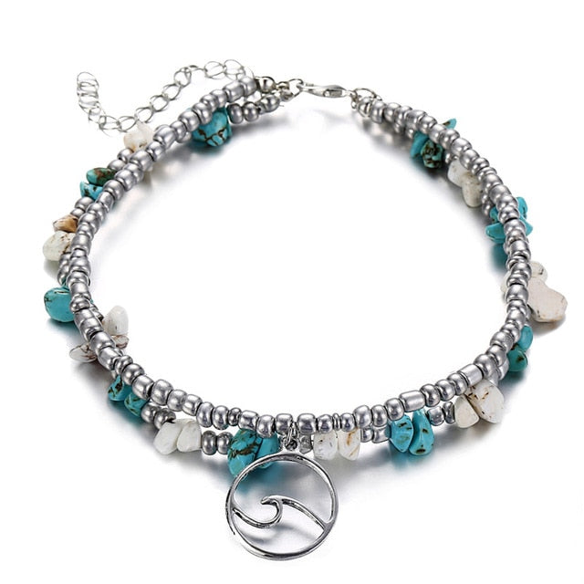 Save Ocean Animals Jewelry | Wave Anklet-seaxox.com