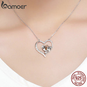 Designer 925 Sterling Silver, Save the Koalas Necklace Ring Earrings Set-seaxox.com