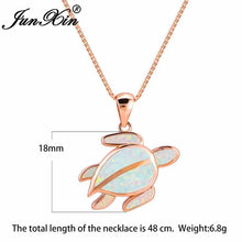 Load image into Gallery viewer, Save Sea Turtle Jewelry | Sterling Sea Turtle Necklace Opal-seaxox.com