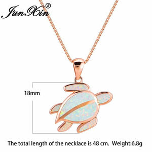 Save Sea Turtle Jewelry | Sterling Sea Turtle Necklace Opal-seaxox.com