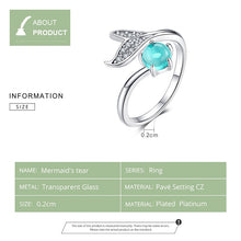 Load image into Gallery viewer, Save the Whales Jewelry | 925 Sterling Whale Tear Ring-seaxox.com