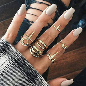 Boho Chic Tribal Ring Sets-seaxox.com