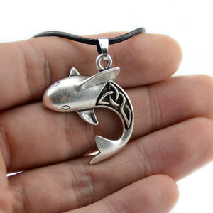 Save the Sharks Jewelry | Shark Necklace Celtic Antiqued-seaxox.com