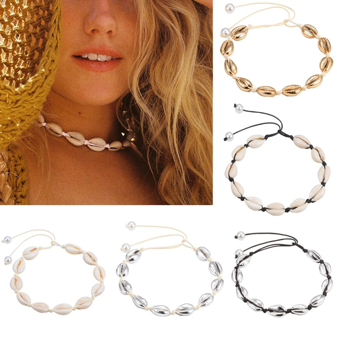 Save Sea Life Jewelry | Seashell Natural Shell Chokers-seaxox.com