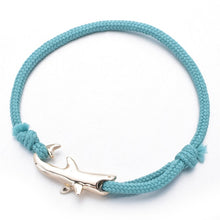 Load image into Gallery viewer, Save the Sharks Jewelry | Rope Chain Shark Bracelet 6 COLORS-seaxox.com