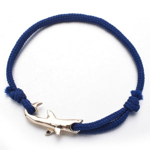 Save the Sharks Jewelry | Rope Chain Shark Bracelet 6 COLORS-seaxox.com