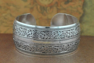 Jewelry That Helps the Ocean | Tibet Silver Boho Vintage Bangles-seaxox.com