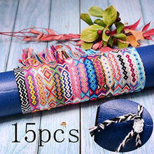 Load image into Gallery viewer, Save Sea Animal Jewelry Friendship Bracelets Braided Woven Boho 🐳 WOW 15 PC SET 🐳