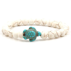 Ocean Charity Jewelry Natural Stone Sea Turtle Bead Bracelets-seaxox.com
