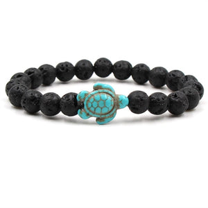 Ocean Charity Jewelry | Natural Stone Sea Turtle Bracelet