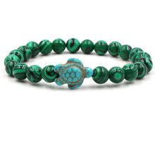 Load image into Gallery viewer, Ocean Charity Jewelry Natural Stone Sea Turtle Bead Bracelets-seaxox.com