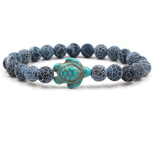 Load image into Gallery viewer, Ocean Charity Jewelry | Natural Stone Sea Turtle Bracelet
