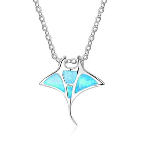 Save Ocean Animals Jewelry Necklace | Manta Ray Necklace-seaxox.com