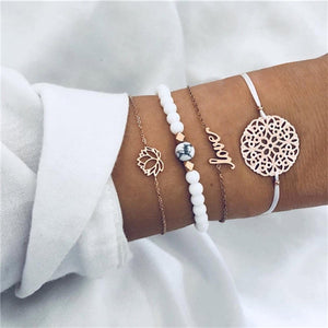 Save Ocean Animals Jewelry | Lotus Love Boho Bracelet-seaxox.com