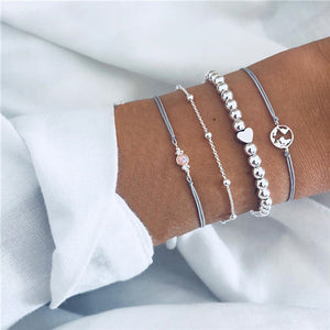Save Sea Life Jewelry Sleek and Chic Bohemian Vintage Multilayer Charm Bracelet-seaxox.com