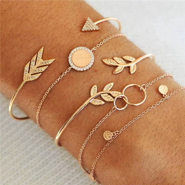 Jewelry That Helps the Ocean | Gold Leaf Boho Bracelet-seaxox.com