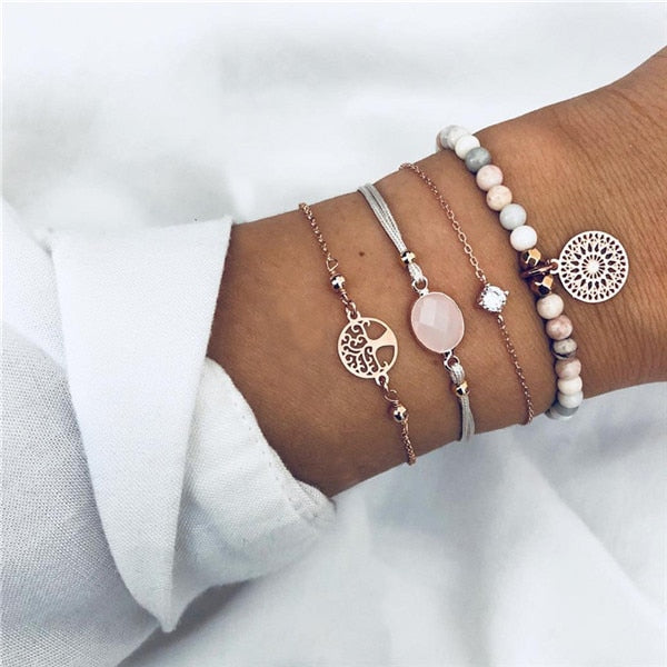 Jewelry That Helps the Ocean | Pink Paradise Boho Bracelet-seaxox.com