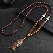 Load image into Gallery viewer, Save Ocean Animals Jewelry Necklace | Nepal Handmade Mala Necklace-seaxox.com