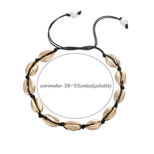 Load image into Gallery viewer, Save Sea Life Jewelry | Seashell Black Rope Natural Choker-seaxox.com