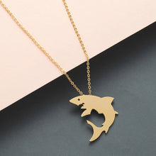 Load image into Gallery viewer, Save the Sharks Jewelry | Great White Shark Necklace-seaxox.com