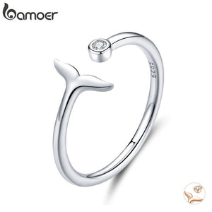Save the Whales Jewelry | Sterling Whale Tail Ring-seaxox.com