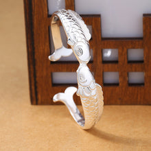 Load image into Gallery viewer, Save Ocean Animals Jewelry | Sterling Kissing Fish Bracelet-seaxox.com