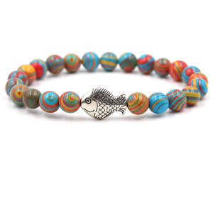 Ocean Charity Jewelry | Malachite Fish Bead Bracelets-seaxox.com