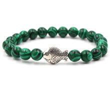Load image into Gallery viewer, Ocean Charity Jewelry | Malachite Fish Bead Bracelets