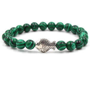 Ocean Charity Jewelry | Malachite Fish Bead Bracelets