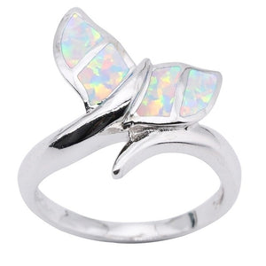 Save the Whales Jewelry | Opal Whale Tail Ring-seaxox.com