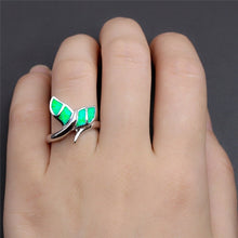 Load image into Gallery viewer, Save the Whales Jewelry | Opal Whale Tail Ring-seaxox.com