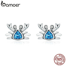 Load image into Gallery viewer, Save Sea Animals Jewelry | Sterling Ocean Crab Earrings-seaxox.com