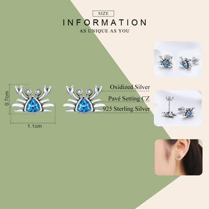 Save Sea Animals Jewelry | Sterling Ocean Crab Earrings-seaxox.com