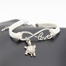 Load image into Gallery viewer, Save the Sea Turtles Bracelet Leather Cute Turtle Pendant 12 Colors