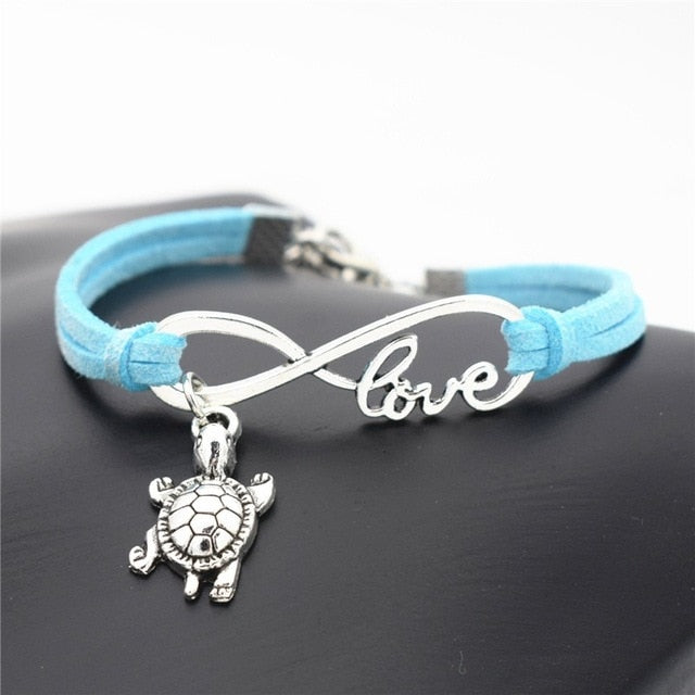 Ocean Charity Jewelry | Sea Turtle Bracelet Leather 12 Colors