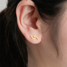 Load image into Gallery viewer, Save Sea Animals Jewelry | Ocean Wave Earrings Studs-seaxox.com