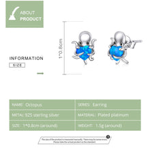 Load image into Gallery viewer, Save Sea Life Jewelry | Sterling Silver Octopus Earrings-seaxox.com
