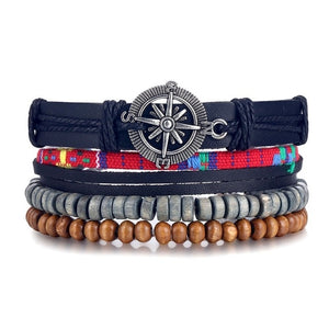 Ocean Conservation Jewelry | True Boho Leather Bracelet 26 Styles-seaxox.com