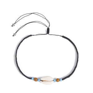 Save the sea Turtles Necklace Boho Natural Sea Shell Cowrie Choker Adjustable-seaxox.com