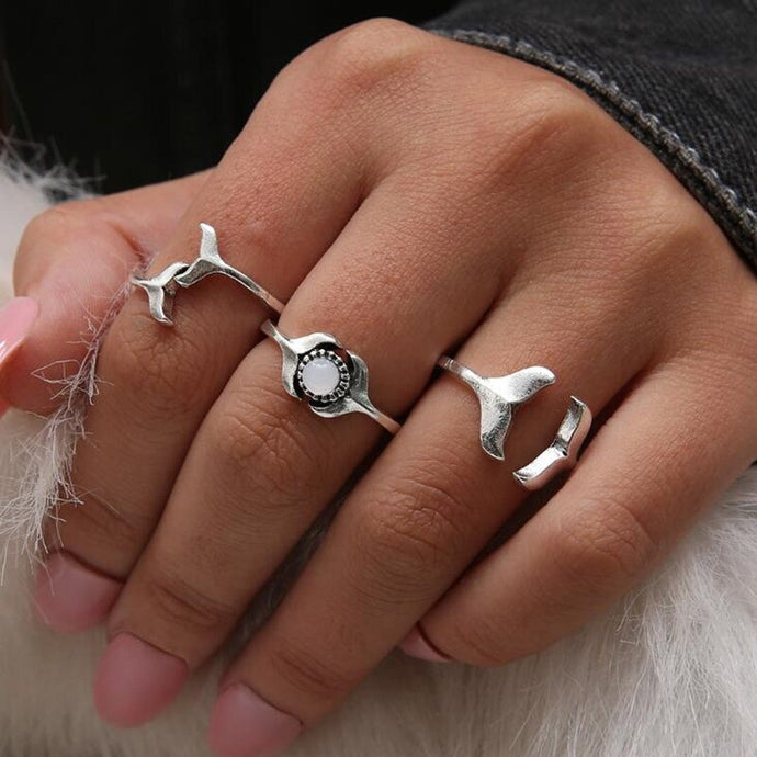 Save the Whales Jewelry | Whale Tail Ring Set-seaxox.com