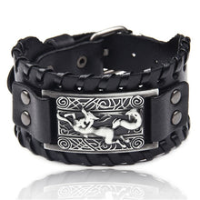 Load image into Gallery viewer, Ocean Conservation Jewelry | Viking Leather Cuff Bracelet 26 Styles-seaxox.com