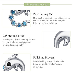 Save Sea Animals Jewelry | Sterling Dolphin Earrings-seaxox.com