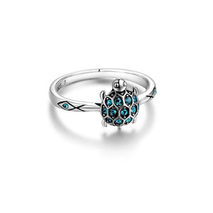 Save Sea Turtle Jewelry | Sterling Sea Turtle Ring Crystal-seaxox.com