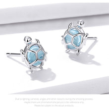 Load image into Gallery viewer, Save Sea Turtle Jewelry | Sea Turtle Earrings Sterling-seaxox.com