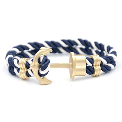 Save the Ocean Jewelry | Luxury Braided Anchor Bracelet 17 STYLES