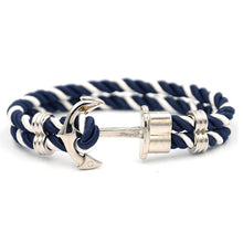 Load image into Gallery viewer, Save the Ocean Jewelry | Luxury Braided Anchor Bracelet 17 STYLES-seaxox.com