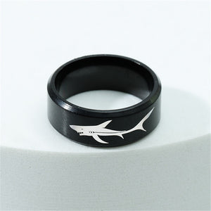 Save the Sharks Jewelry Ring | 8mm Titanium