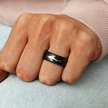 Load image into Gallery viewer, Save the Sharks Jewelry Ring | 8mm Titanium